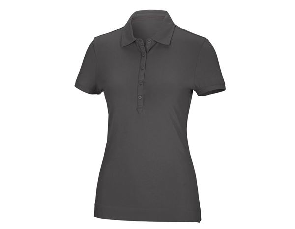 Shirts / Sweats / Blusen: Damen Polo-Shirt Clarissa + anthrazit