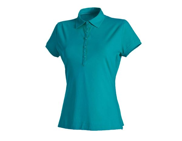 Shirts & Co.: Damen Polo-Shirt Clarissa + ozean