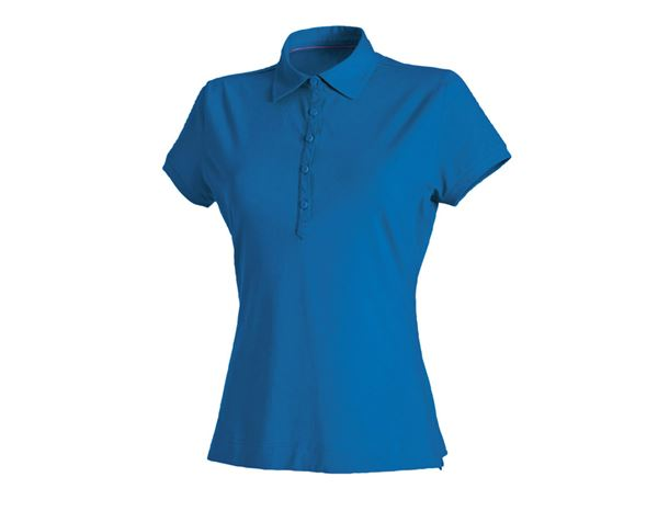 Shirts / Sweats / Blusen: Damen Polo-Shirt Clarissa + enzianblau