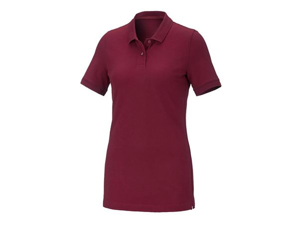 Shirts / Sweats / Blusen: Damen Piqué-Polo Ida + bordeaux
