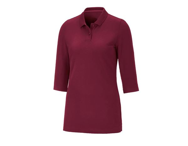 Shirts / Sweats / Blusen: Damen Piqué-Polo 3/4-Arm Svea + bordeaux