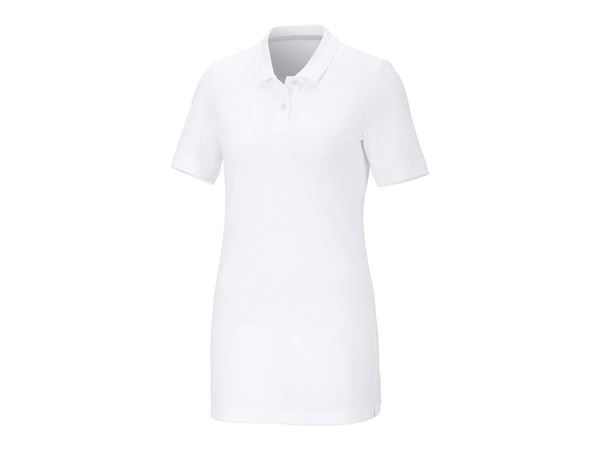 Shirts / Sweats / Blusen: Damen Pique-Polo Ida, long fit + weiß