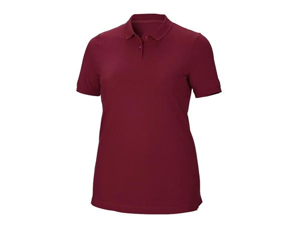 Shirts / Sweats / Blusen: Damen Piqué-Polo Ida, plus fit + bordeaux