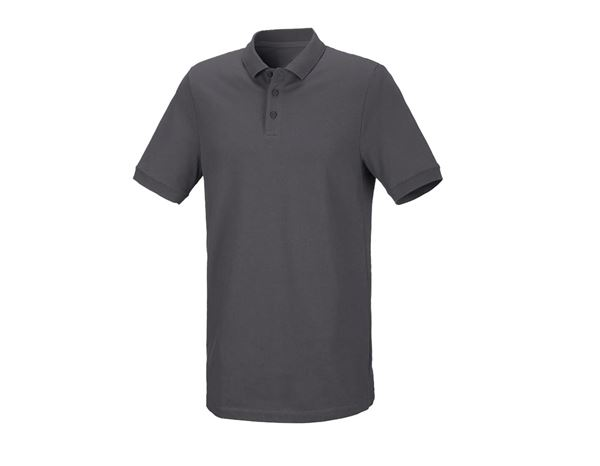 Shirts / Sweats / Hemden: Herren Piqué-Polo Theo, long fit + anthrazit