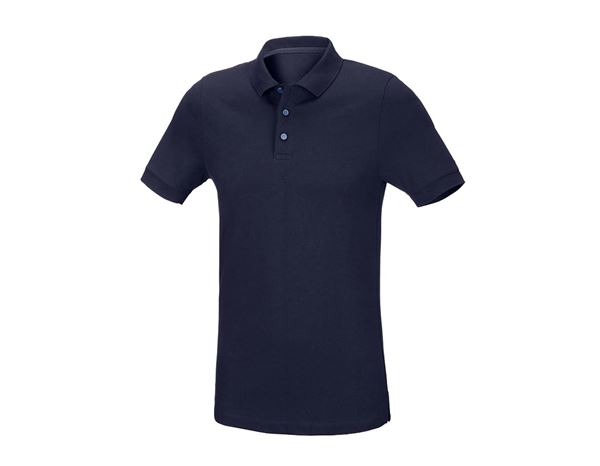Shirts / Sweats / Hemden: Herren Piqué-Polo Theo, slim fit + dunkelblau