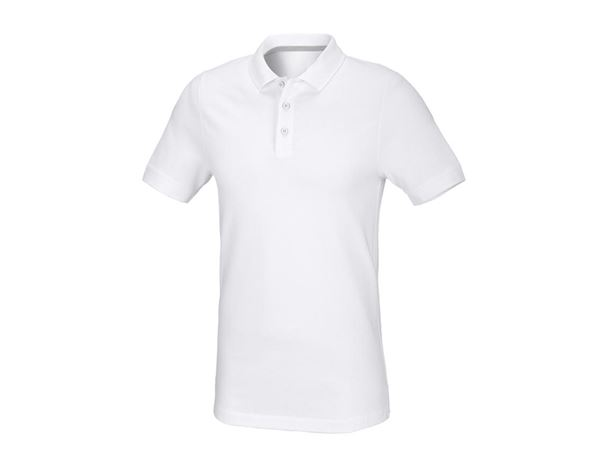 Shirts & Co.: Herren Piqué-Polo Theo, slim fit + weiß