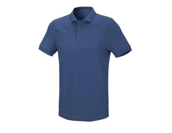 Shirts & Co.: Herren Piqué-Polo Theo + kobalt