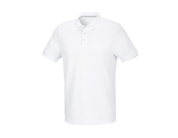 Shirts & Co.: Herren Piqué-Polo Theo + weiß