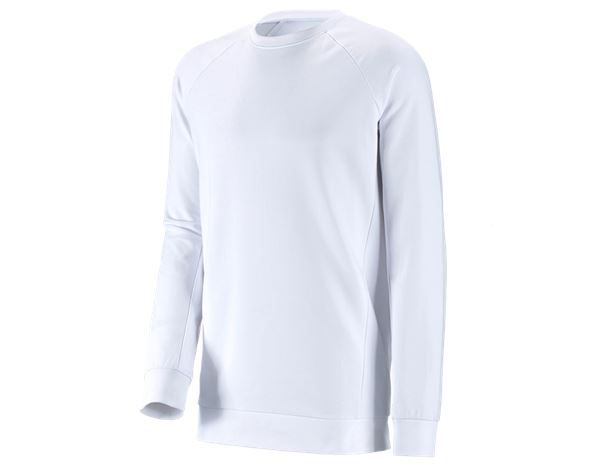 Shirts / Sweats / Hemden: Herren Sweatshirt Michel, long fit + weiß