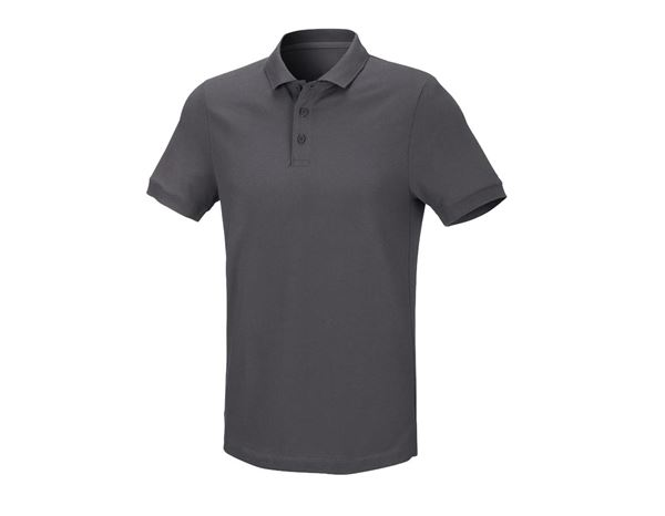 Shirts / Sweats / Hemden: Herren Piqué-Polo Theo + anthrazit