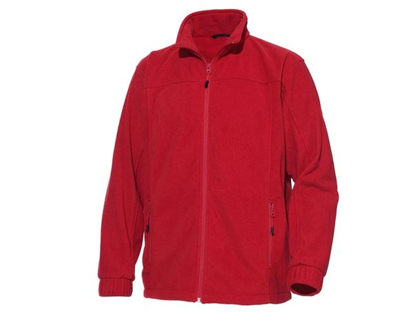 Jacken: Fleece-Jacke Jara + rot